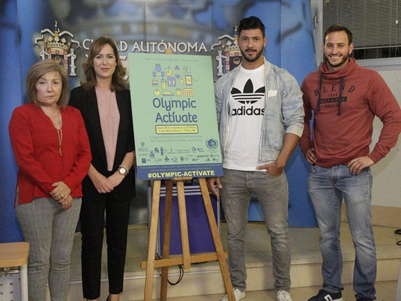 La presidenta de la AECC, la consejera Velázquez y los responsables del Olympic Center (Foto: Guerrero)